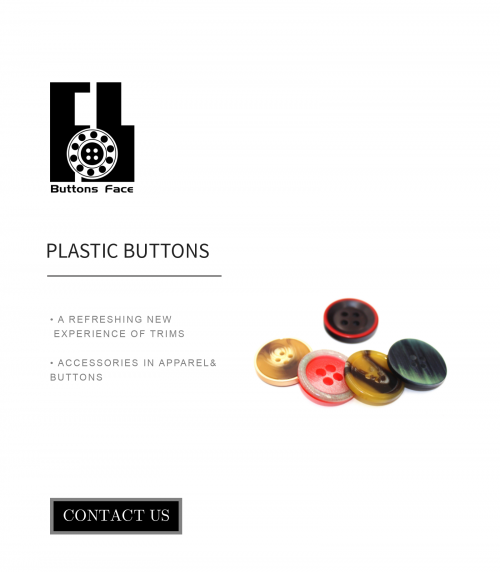 plastic clothing buttons