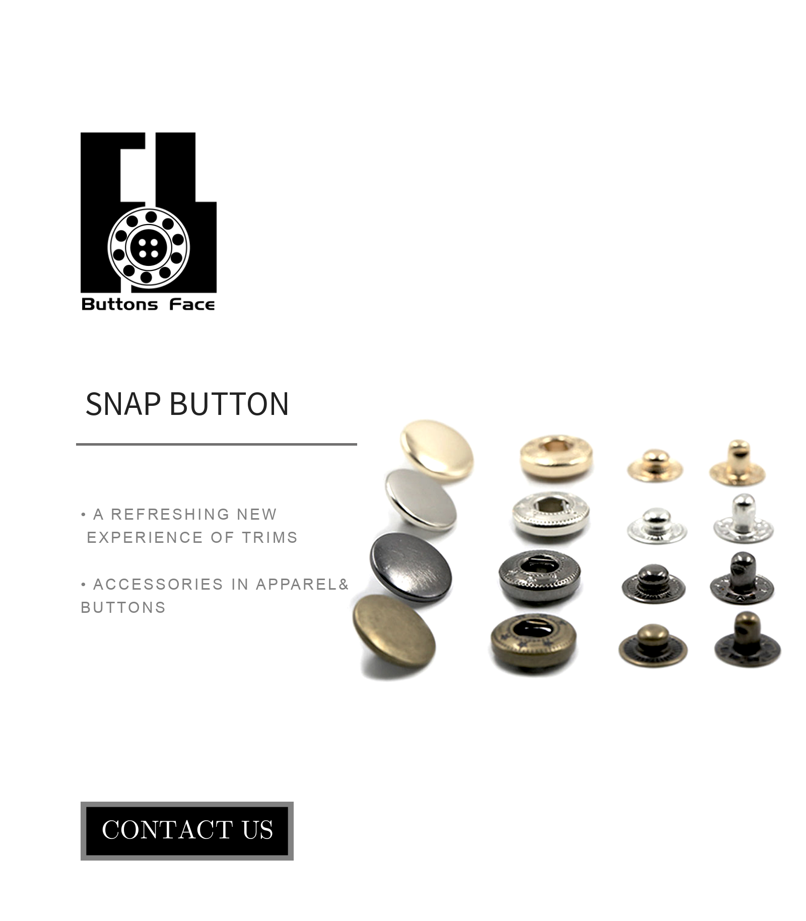 Electroplating snap buttons